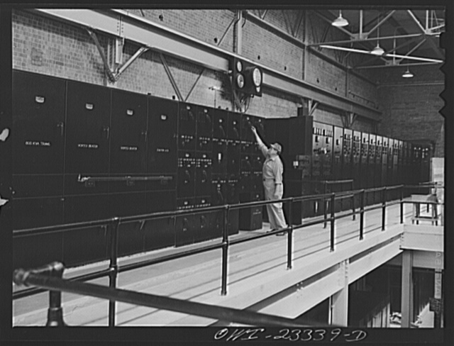 Lufkin, Texas. Southland paper mill. Control panels in the power house