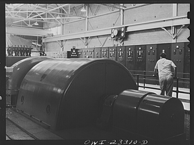 Lufkin, Texas. Southland paper mill. Turbo generator in the power house