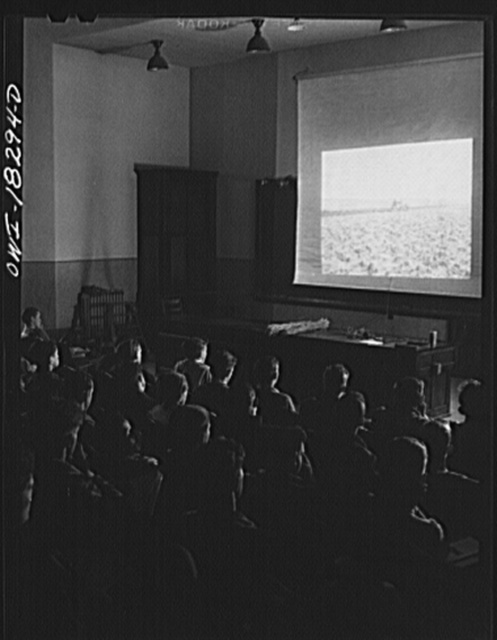 Madison, Wisconsin. Farm short course school at the University of Wisconsin. Students in a forage and small grains class attending a lecture on grasses
