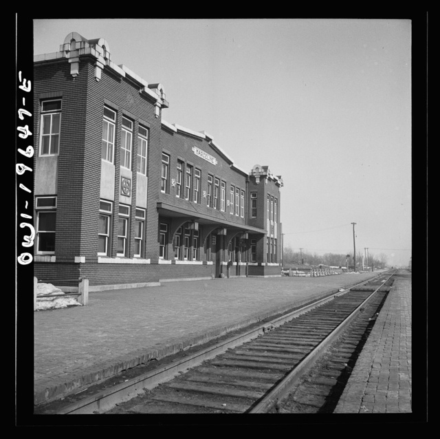 Marceline, Missouri. The Atchison, Topeka, and Santa Fe Railroad depot and office building