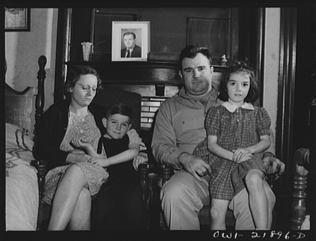 Montgomery, Alabama. Marvin Johnson, truck driver, with his family