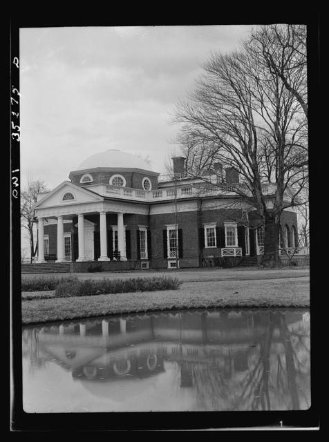 Monticello, the home of Thomas Jefferson, near Charlottesville, Virginia