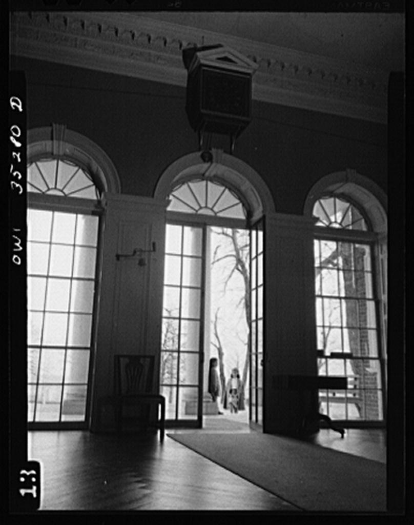 Monticello, the home of Thomas Jefferson, near Charlottesville, Virginia.  The main hall