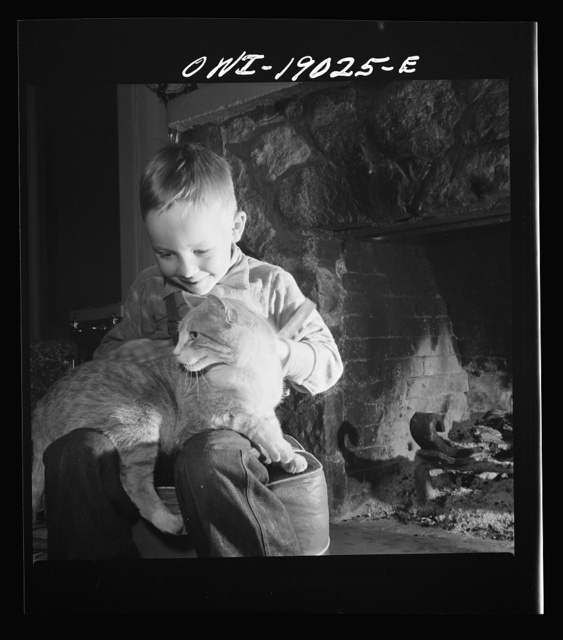 Moreno Valley, Colfax County, New Mexico. William Heck's son before the fire in their ranch home in the Rocky Mountains