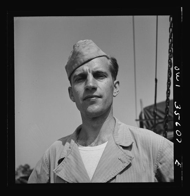 Myrtle Beach, South Carolina. Air Service Command. Private Philip A. Zilinsky, propeller specialist with the mobile unit. Private Zilinsky is twenty-eight years old, comes from 905 East 141st Street, Cleveland, Ohio, where he worked as a draftsman for the Standard Oil Company