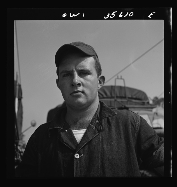 Myrtle Beach, South Carolina. Air Service Command. Staff Sergeant Richard A. Walton, a welder with a mobile unit. He is twenty years old, and came into the Army right out of high school. His home is at 343 Long Road, Wilkinsburg, Pennslyvania
