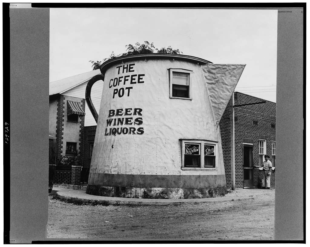 New Bedford, Pennsylvania. An eating place near the Greyhound bus stop
