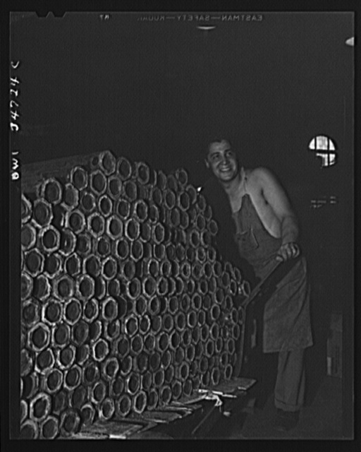 New Britain, Connecticut. Incendiary bomb casings being made at the Stanley plant