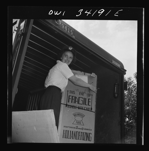 New Britain, Connecticut. Mrs. Dorothy Bell, Irish-German descent, twenty-seven years old, mother of two children, employed at the American Railway Express Company, sorting packages, weighting them, etc., earning seventy-nine and one half-cents an hour