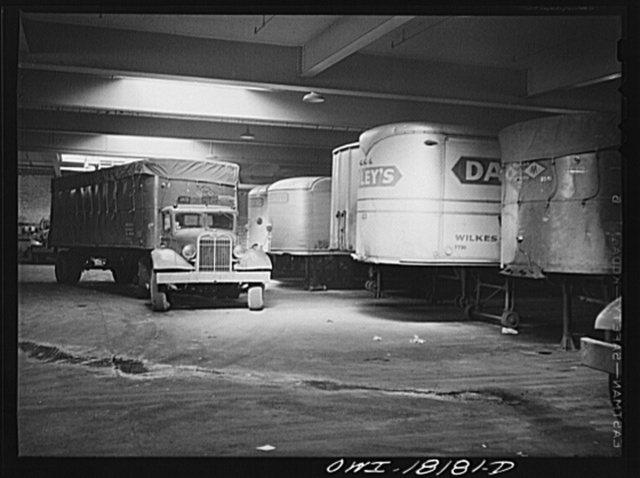 New York, New York. Associated Transport Company trucking terminal on Twenty-third Street