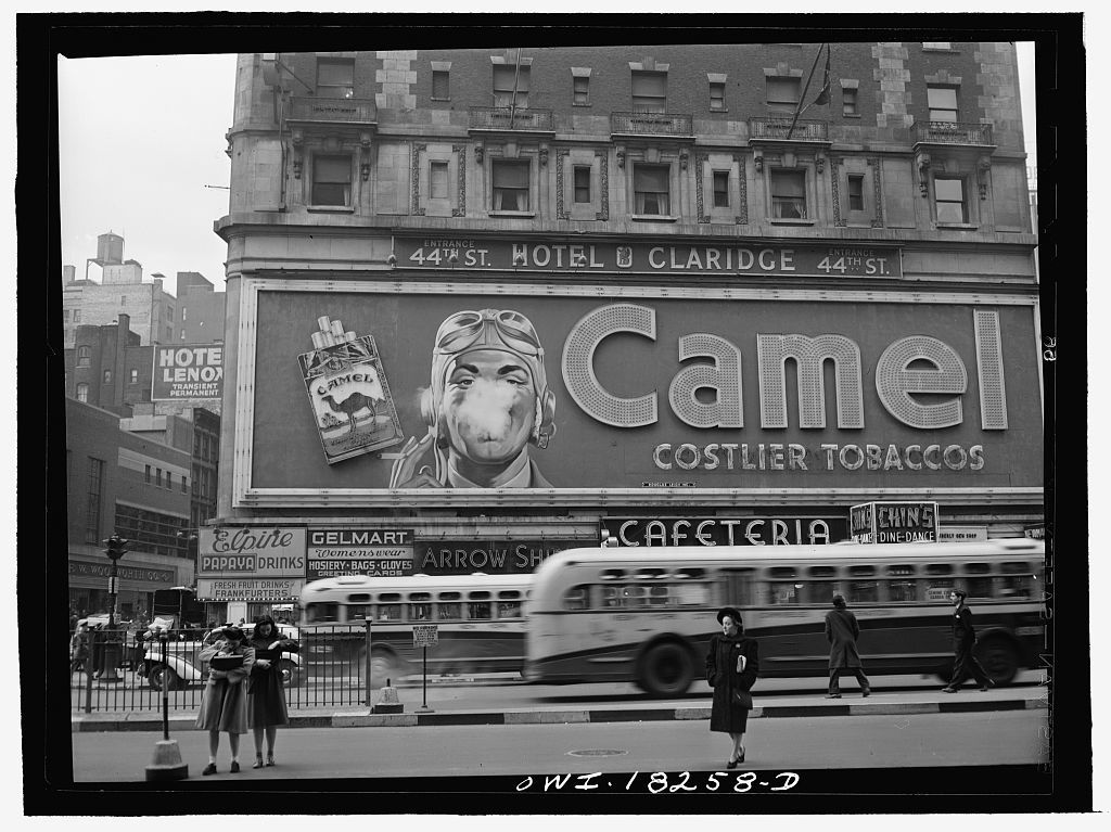 New York, New York. Camel cigarette advertisement at Times Square