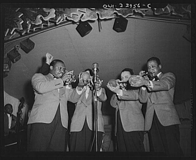 New York, New York. Duke Ellington's trumpet section
