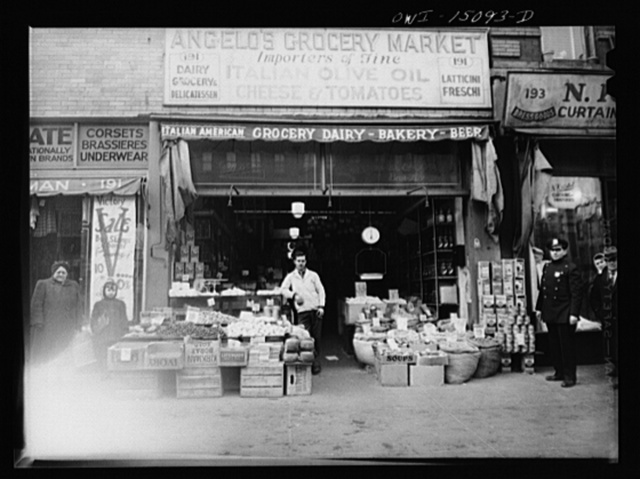 New York, New York. Italian grocer on First Avenue between Tenth and Fourteenth Streets