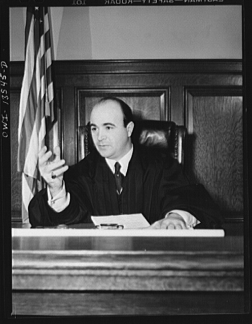 New York, New York. Judge J. Roland Sala, appointed to the felony court in Brooklyn. After hearing several cases on the day Tresca was murdered, he held the court, and spoke for ten minutes on the virtues of the man, whom he declared to be his political opponent, and a man holding opposite economic theories from his, but nevertheless great