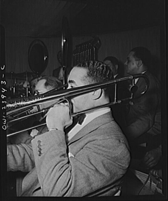 New York, New York. Lawrence Brown, trombonist with Duke Ellington's orchestra