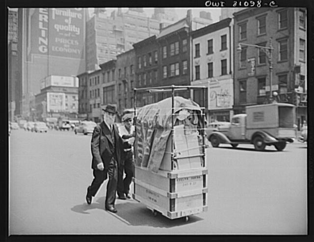 New York, New York. Street scene in downtown Manhattan