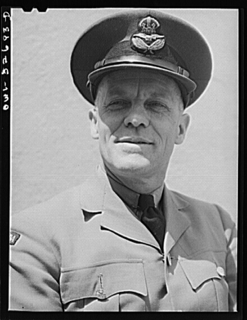Oswego, New York. A Canadian flight commander visiting Oswego during United Nations week