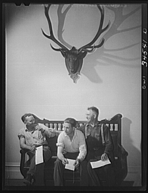 Oswego, New York. Blood donor clinic held for several days in the Elks' Club. There were 1000 volunteers, and the Red Cross handled ten every fifteen minutes during the campaign