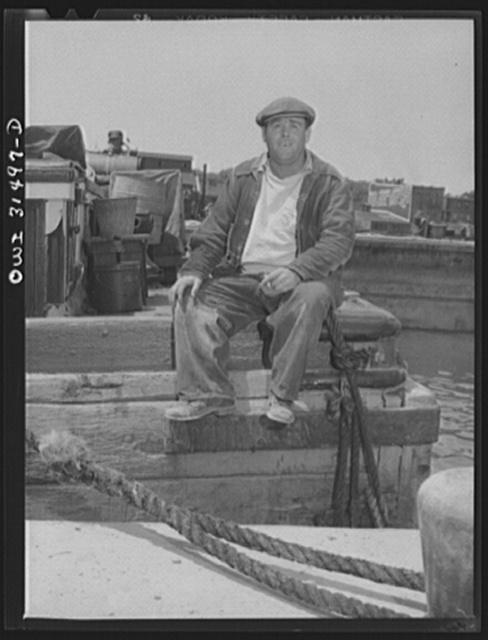 Oswego, New York. Dock worker