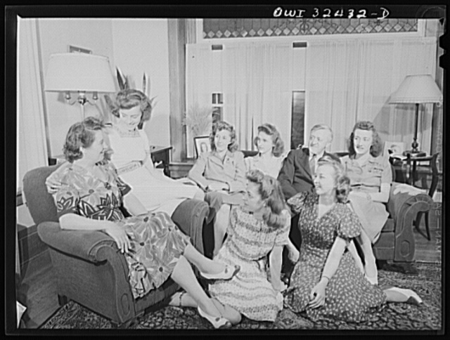 Oswego, New York. Mayor Scanlon, a Democratic mayor in a Republican community, with his wife and six daughters