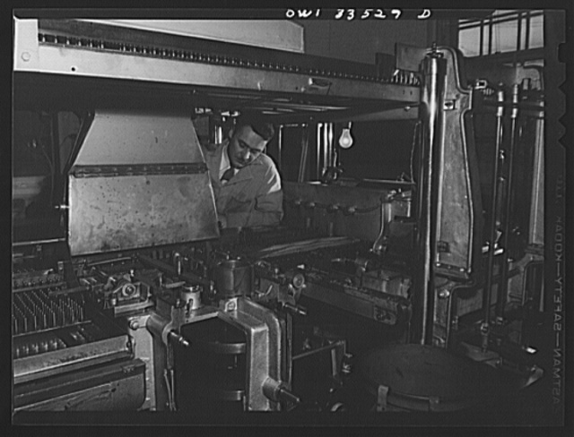 Parke, Davis and Company, manufacturing chemists, Detroit, Michigan. An automatic empty gelatin capsule machine