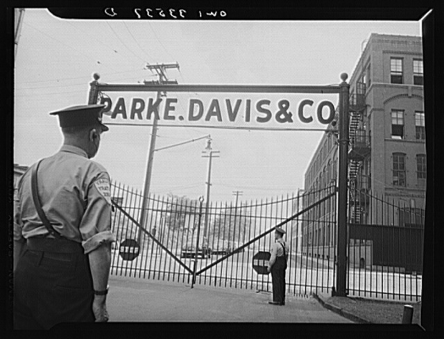 Parke, Davis and Company, manufacturing chemists, Detroit, Michigan. Entrance to the pharmaceutical laboratory