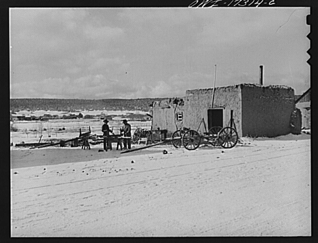 Penasco, New Mexico. Blacksmith shop