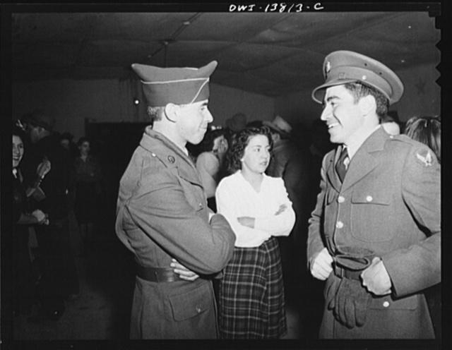 Penasco, New Mexico. Servicemen home on furlough at a dance