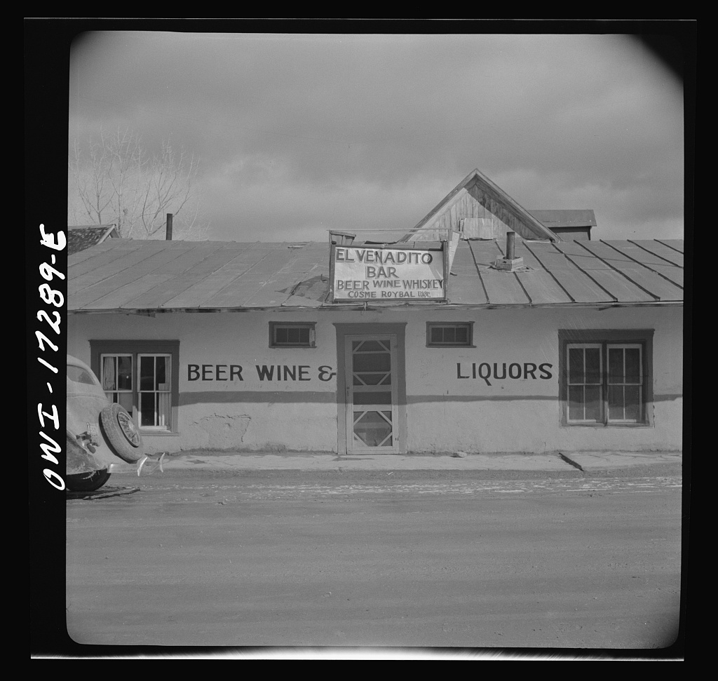 Penasco, Taos County, New Mexico. Liquor store