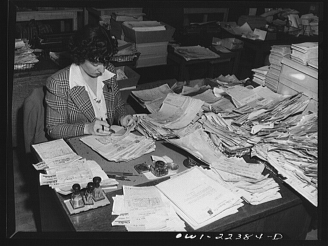 Philadelphia, Pennsylvania. Checking orders at the W. Atlee Burpee Company, seed dealers