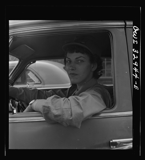 Philadelphia, Pennsylvania. Miss Sarah Grabov, a driver for the Yellow Cab Company. She was formerly employed at a dental factory