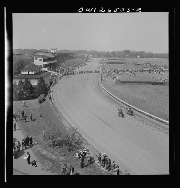 Pimlico racetrack, near Baltimore, Maryland. General view of Pimlico track
