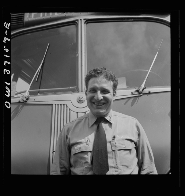 Pittsburgh, Pennsylvania. A bus driver for the Pennsylvania Greyhound Lines, Incorporated