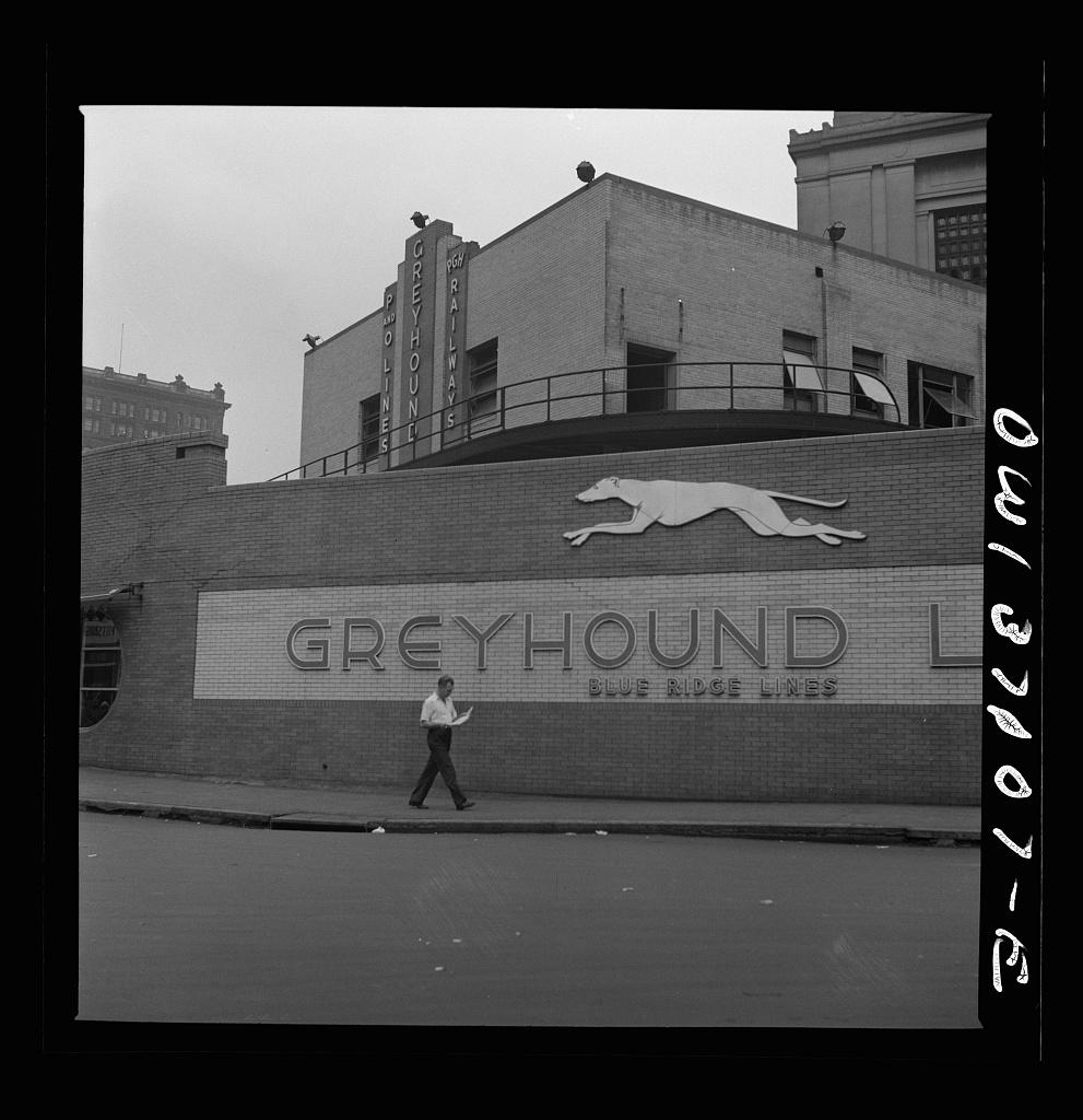Pittsburgh, Pennsylvania. The exterior of the Greyhound bus terminal