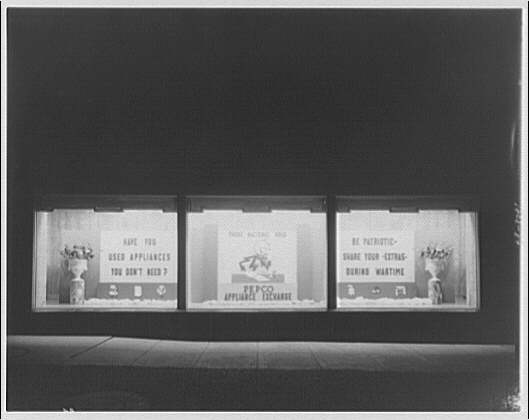 Potomac Electric Power Co. substations. Substation no. 38 window display: PEPCO appliance exchange I