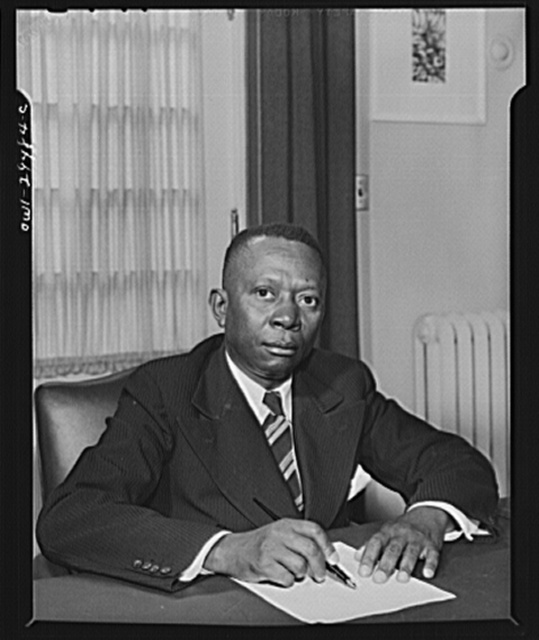 President-elect of the Republic of Liberia. The Honorable W.V.S. Tubman, President-lect of the Republic of Liberia is shown at a desk in historic Blair House during the official visit of His Excellency, Edwin Barclay, President of the Republic of Liberia on May 30, 1943