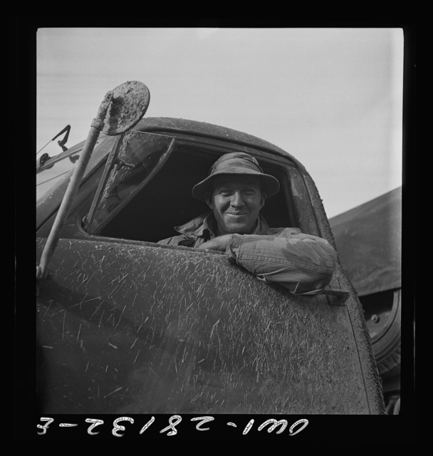 Private Charles Nasholts, of Auburn, New York. A mechanic in civilian life, he is serving as a truck driver with the United States Army overseas