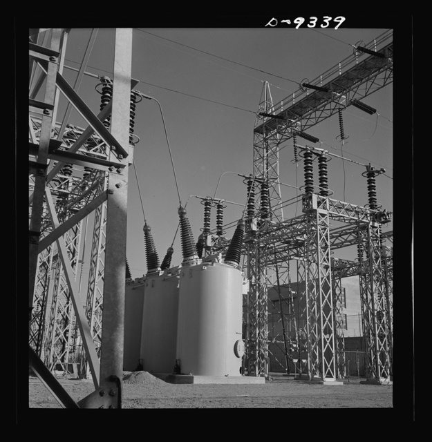 Production. Magnesium. A veritable forest of transmission towers and transformers distribute electrical power to the various units of Basic Magnesium's huge plant in the southern Nevada desert. Some units of this plant are now producing magnesium, lightest of all metals, for incendiary bombs, tracer bullets and aircraft parts. Full production is scheduled for the summer of 1943