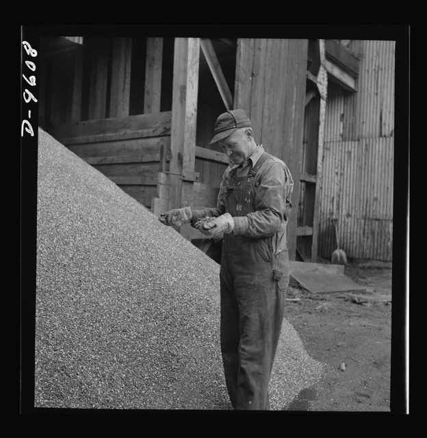 Production. Zinc. A pile of zinc concentrate ready for shipment to the smelter. From the Eagle-Picher plant near Cardin, Oklahoma, come great quantities of zinc and lead to serve many important purposes in the war effort