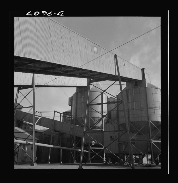 Production. Zinc. Belt conveyor galleries at a large zinc concentrator plant. From the Eagle-Picher plant near Cardin, Oklahoma, come great quantities of zinc and lead to serve many important purposes in the war effort