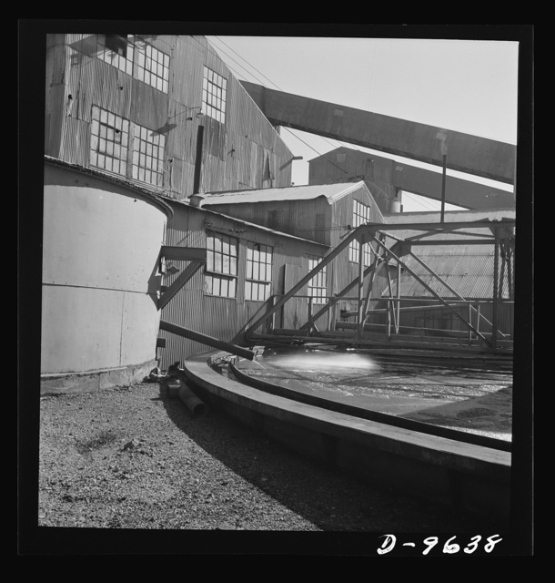 Production. Zinc. Recovering zinc by flotation at a large concentrator. From the Eagle-Picher plant near Cardin, Oklahoma, come great quantities of zinc and lead to serve many important purposes in the war effort