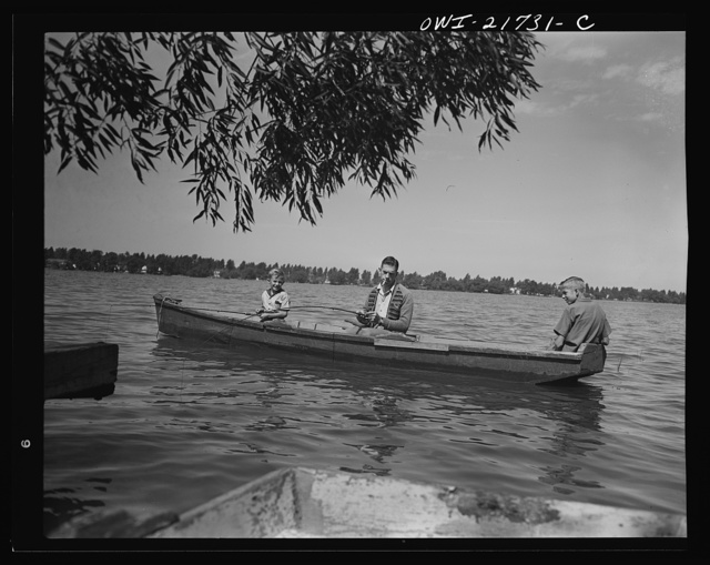 Rochester, New York. Mr. Babcock and his two sons, Earl and Howard, fishing on Sunday afternoon