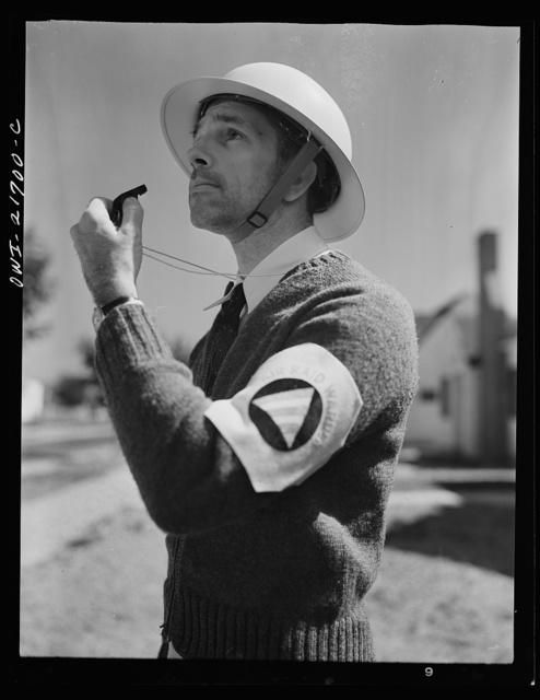 Rochester, New York. Mr. Babcock is an air raid warden