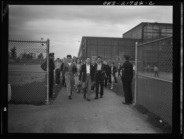 Rochester, New York. Mr. Babcock leaving the plant for home at the end of the day