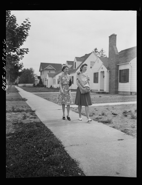 Rochester, New York. Shirley helps Mrs. Babcock with the shopping