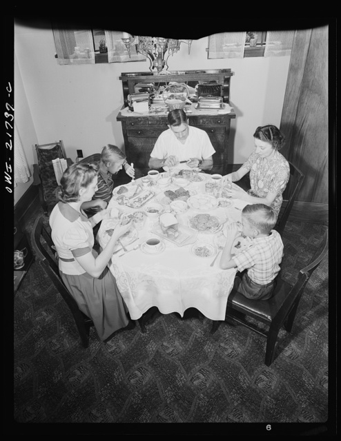Rochester, New York. The Babcocks at the dinner table