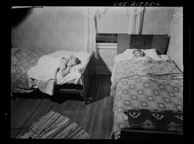 Rochester, New York. The two Babcock boys share one room