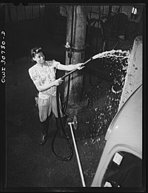 Ruby Lois Robbins, thirty-one, employed as a car washer in a garage, earning fifty-five cents per hour. Pittsburgh, Pennsylvania. She formerly worked in a cigar store in Tuskegee, Alabama