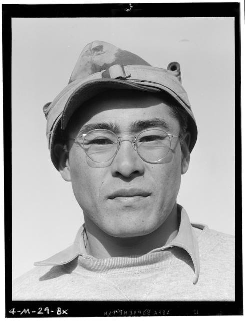 Ryobe Nojima, farmer, 2 of 2, Manzanar Relocation Center, California