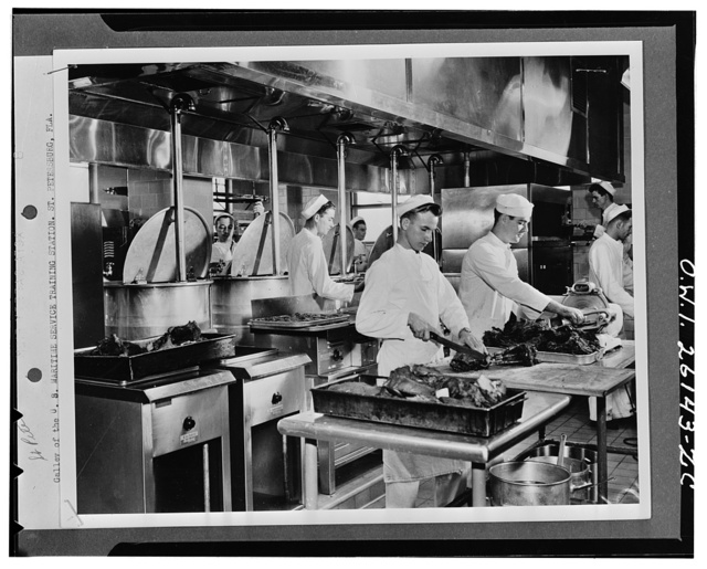 Saint Petersburg, Florida. Galley of the United States Maritime Service training station